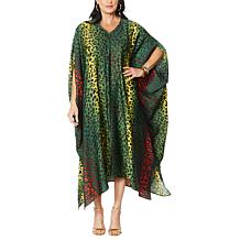 """As Is"" IMAN Global Chic Printed Caftan"