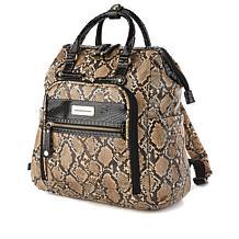 """""""As Is"""" Samantha Brown Embossed Backpack"""