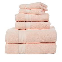 august & leo 6-pc Luxe Turkish Cotton Towel Set w/Coresoft Technology