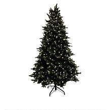 august & leo 7.5' Frasier Fir Pre-Lit Glitter Christmas Tree w/Remote