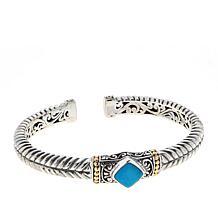 Bali Designs Sterling Silver 18K Indah Jiwa Cuff Bracelet