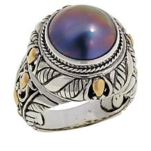 Bali RoManse Cultured Mabé Pearl Cable Ring