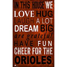 Baltimore Orioles In This House Sign