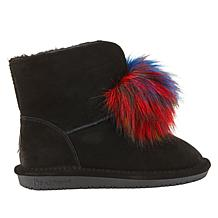 f85f9e12080e ... BEARPAW® Suede Sheepskin Pom Pom Boot with NeverWet™ ...