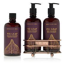Beekman 1802 Fig Leaf Hand & Body Wash and Lotion Caddy Set
