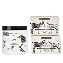 Beekman 1802 Supersize Body Cream and Bar Soap 3-piece Set