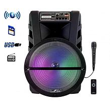"""beFree Sound 15"""" Bluetooth Rechargeable Portable Party Speaker w/LEDs"""