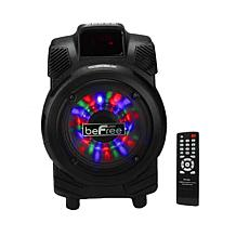 """beFree Sound 6.5"""" 400W Bluetooth Portable Party Speaker w/Lights"""