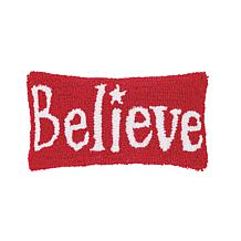 Believe Hooked Pillow