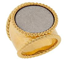 "Bellezza ""Bee"" Lira Coin Bronze Hammered Shank Ring"