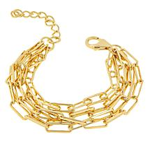 Bellezza Bronze 5-Row Elongated Oval Link Bracelet