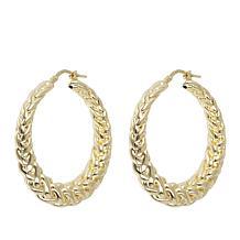Bellezza Bronze Electroform Byzantine Hoop Earrings