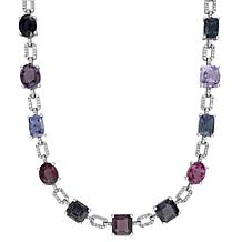 Bellini  14K White Gold Multi-Color Spinel and Diamond Necklace