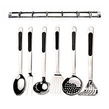 BergHOFF® 7-piece Kitchen Utensil Set with Wall Rack