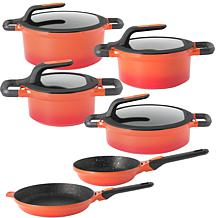 BergHOFF Gem Non-Stick 10-piece Set - Caribbean Red