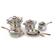 BergHOFF Ouro Gold 11-piece 18/10 Stainless Steel Cookware Set