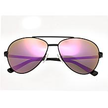 Bertha Bianca Polarized Sunglasses with Black Frame & Rose Gold Lenses