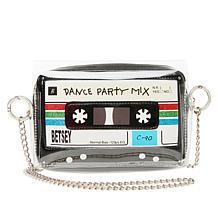 Betsey Johnson Cassette-Print Crossbody Bag