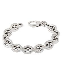 Bianca Milano Sterling Silver Oval Link Chain Bracelet
