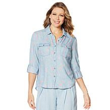 Billy T Blue Blossom Linen Shirt