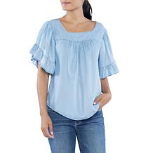 Billy T Short-Sleeve Butterfly Top