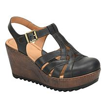 b.o.c. Lizzie Leather Wedge Platform Sandal