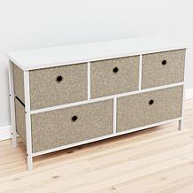 Brookside Five Drawer Fabric Storage Chest