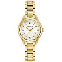 Bulova Goldtone Women's Diamond-Accented Bracelet Watch