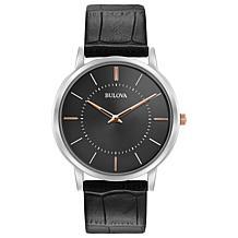 Bulova Men's Classic Ultra Slim Leather Watch