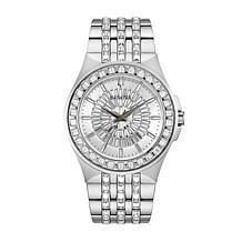 Bulova Men's Stainless Steel Crystal Baguette Watch