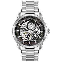 Bulova Stainless Steel Men's Automatic Bracelet Skeleton Watch