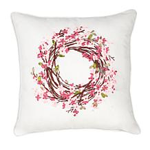 C&F Home Blossom Wreath Ribbon Art Pillow