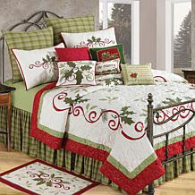 C&F Home Holiday Garland King Quilt