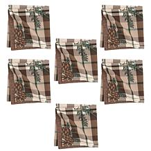C&F Home Lookout Lodge Napkin Set of 6
