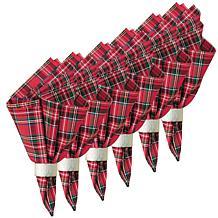C&F Home Red Plaid Cotton Napkin Set of 6