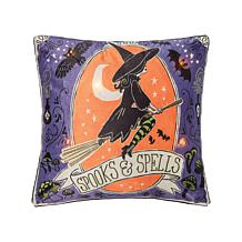 C&F Home Spooks and Spells Witch LED Pillow