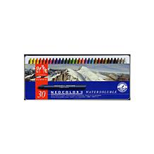CARAN D'ACHE Water Soluble Wax Pastel Set of 30