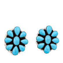 Chaco Canyon Kingman Turquoise Cluster Earrings