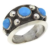 Chaco Canyon Sleeping Beauty Turquoise and Bead Band Ring