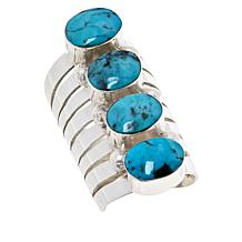 Chaco Canyon Sterling Silver Four-Stone Elongated Ring