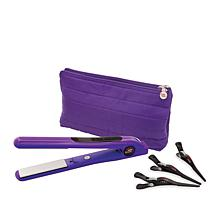 CHI Amethyst Smart GEMZ Volumizing Hairstyling Iron with Clips and Bag