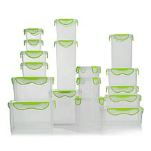 ClipFresh 34-piece Plastic Food Storage Container Set