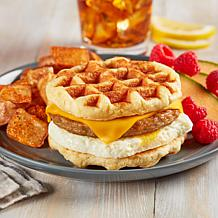 Coach Joe's 6 7.5-8 oz. Sausage, Egg and Cheese Waffle Stackers AS®