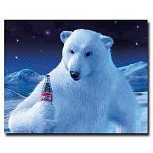 """Coca-Cola """"Polar Bear with Coke Bottle"""" Canvas Art"""