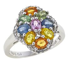 Colleen Lopez 1.96ctw Multi Sapphire and White Topaz Ring