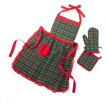 Colleen Lopez Apron, Oven Mitt and Pot Holder Set