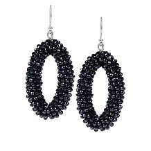 Colleen Lopez Black Spinel Beaded Drop Earrings