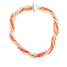 "Colleen Lopez Cultured Pearl & Coral Bead 18"" Necklace"