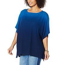 Colleen Lopez Dip Dye Sweater Knit Poncho