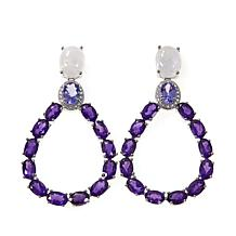 Colleen Lopez Gem, Tanzanite and Amethyst Sterling Silver Earrings